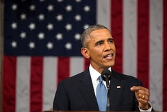 President Barack Obama gave the State of the Union Address on January 20, 2015