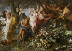 Pythagoras advocating vegetarianism, painting by Rubens