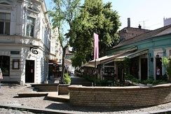 Skadarlija, the city's old bohemian neighbourhood
