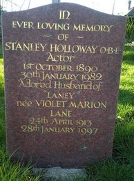 tombstone inscribed to Holloway