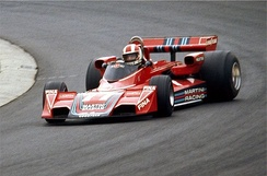 Stommelen driving for Brabham at the 1976 German Grand Prix.