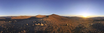 Sun, moon, and large telescopes above Chile's Atacama Desert[15]
