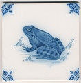 Old Dutch tile from Friesland