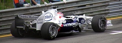 "BMW Sauber put ""Thanks Michael"" messages on the back of their cars for what was then Michael Schumacher's last Grand Prix in Brazil."