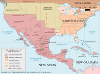 San Antonio was part of the Spanish Viceroyalty of New Spain