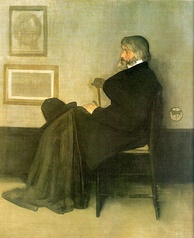 Arrangement in Grey and Black, No. 2: Portrait of Thomas Carlyle. James McNeill Whistler, 1872–73. Oil on canvas, 171 × 143.5 cm.