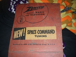 "A box advertising a remote control system often referred to as ""Space Command Tuning"""