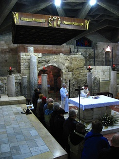 Mass in the Grotto of the Annunciation, Nazareth.