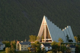 The Arctic Cathedral is often used as a symbol of Norwegian Christianity
