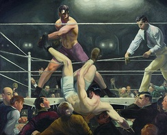 George Bellows, Dempsey and Firpo, 1924, Whitney Museum of American Art