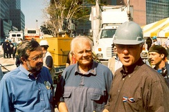 Bill Young with Former President Bill Clinton and Representative Dave Obey in September 2001.