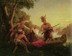 The abduction of Jemima Boone by Shawnee Indians in 1776