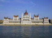 Gothic Revival - The Hungarian Parliament Building in Budapest, built between 1885 and 1904