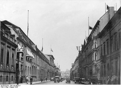 Wilhelmstraße in 1934, Reich Chancellery and Foreign Office on the left