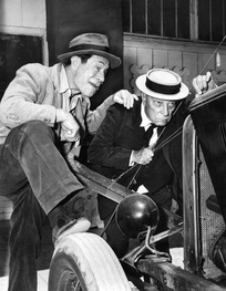 "Brown with Buster Keaton in the ""Journey to Ninevah"" episode of Route 66 from 1962"