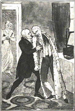 The Suicide of Lord Castlereagh by George Cruikshank, 1822