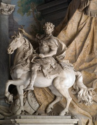 Equestrian statue of Charlemagne by Agostino Cornacchini (1725), St. Peter's Basilica, Vatican City.