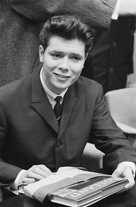 Cliff Richard at a press conference in the Netherlands in 1962