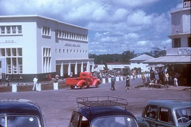 Arusha clock tower area, 1953