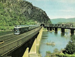 B&O RR Columbian at Harpers Ferry in 1949