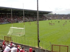 Spectators watch Cork take on Kerry at the Páirc Uí Chaoimh in the city (since redeveloped)