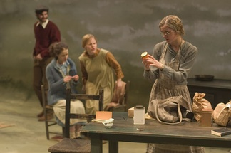 Undergraduate students perform in a main stage production of Dancing at Lughnasa.