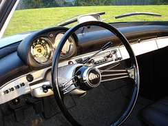 Banjo steering wheel in 1956 DKW Monza