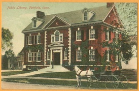 1910 postcard showing Fairfield Library
