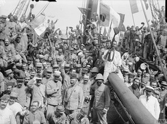 French troops going to Gallipoli in 1915