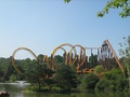 Rollercoaster at the Parc Astérix