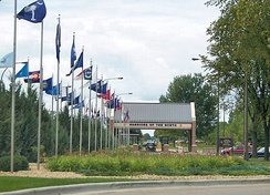 Main Gate at Grand Forks AFB