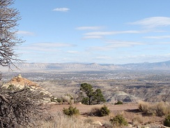 The Grand Valley in Western Colorado, a large valley made up of high desert terrain. The city of Grand Junction is located in the heart of the valley