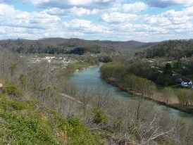 View of Beattyville from Happy Top Park