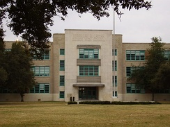 Lamar High School, in central Houston, is of Houston ISD