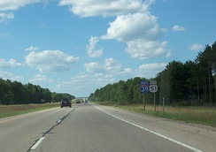 Interstate 39, along with US 51, in northern Wisconsin