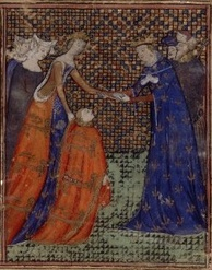 Painting of Edward III giving homage to King Charles