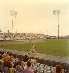 The Expos played home games at Jarry Park Stadium in 1975.