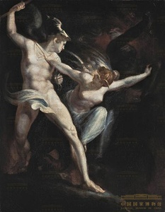 Satan and Death with Sin Intervening (c. 1792 or 1802) by Henry Fuseli