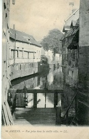 The Somme in the old town at the beginning of the 20th century
