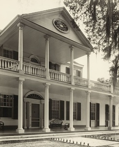Linden, by Frances Benjamin Johnston, 1938. Builder is not known but Thomas B. Reed is known as the first occupant. In 1840, Linden was purchased by Mrs. Janr Gustine Connor, great grandmother of present owner