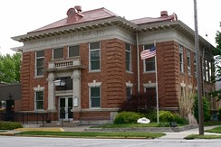A Carnegie library, Macomb, Illinois