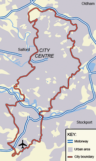 The City of Manchester. The land use is overwhelmingly urban
