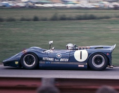 Matich won all three rounds of the 1969 Australian Sports Car Championship in the Matich SR4 Repco