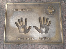 Sir Michael Caine's handprints in Leicester Square, London