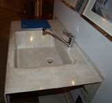 Hemp composite sink basin