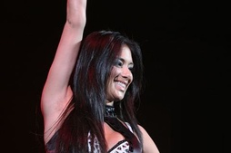 Scherzinger performing on the PCD World Tour on December 10, 2006.