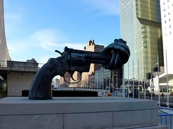 Non-Violence sculpture in front of UN headquarters
