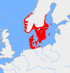 Map of the Nordic Bronze Age culture, around 1200 BCE
