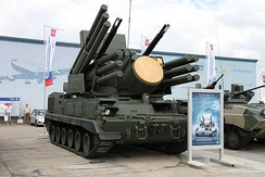 The Russian Pantsir-S1 can engage targets while moving, thus achieving high survivability.