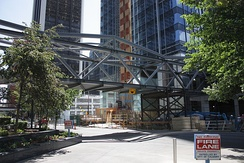 +15 under construction between Centennial Place and the Canterra Tower in 2009